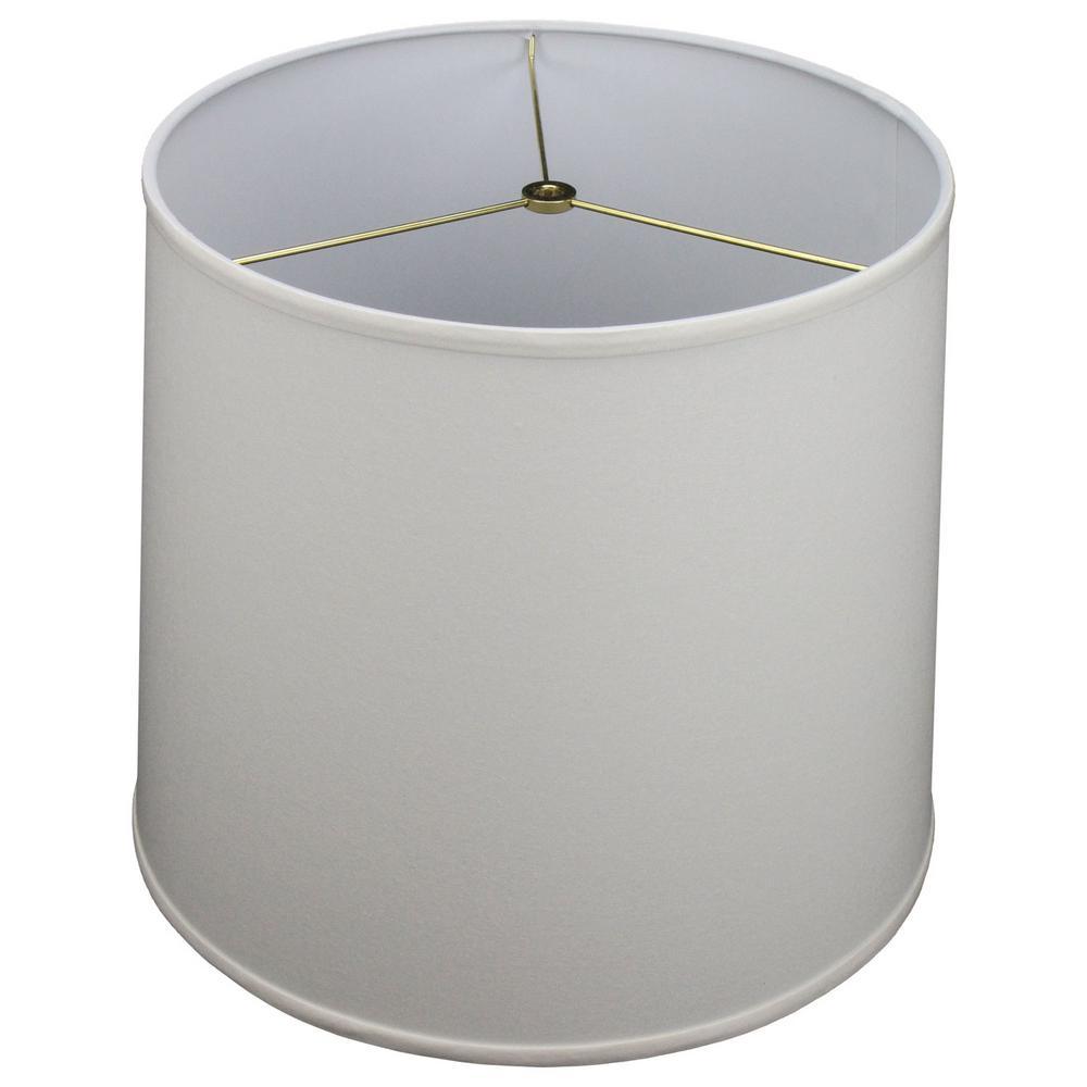 14 in. Top Diameter x 16 in. Bottom Diameter x 14 in. Slant Linen Cream Empire Lamp Shade