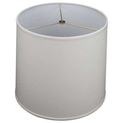 14 in. Top Diameter x 16 in. Bottom Diameter x 14 in. Slant Linen Cream Empire Lamp Shade