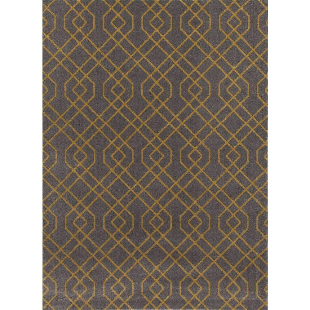 world rug gallery modern trellis design gray yellow 3 ft 3 in x