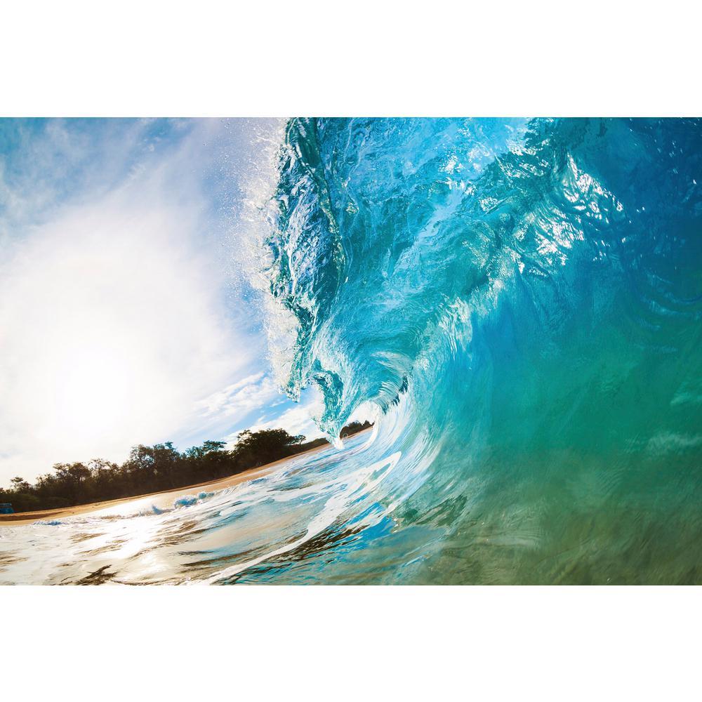 Photographic Ocean Wave Beach and Nautical Wall Mural