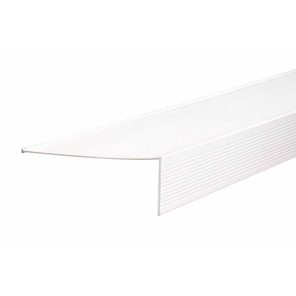 M-D Building Products TH083 4.5 in. x 1.5 in. x 72 in. White Sill Nosing Weatherstrip