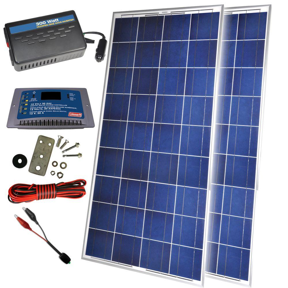 300-Watt Solar Back-Up Power Kit