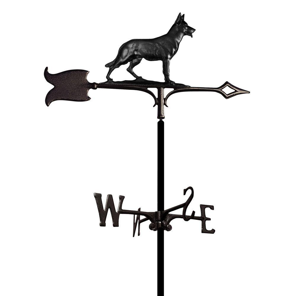 Whitehall Products Black German Shepherd Weathervane
