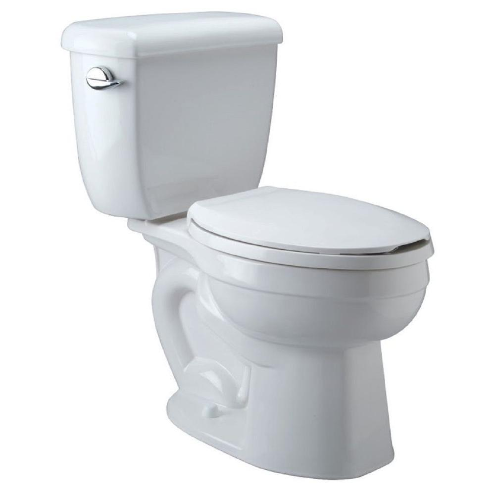 Zurn High Performance 2-Piece 1 6 GPF Single Flush Elongated ADA Height  Toilet in White