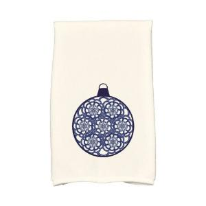Click here to buy  16 inch x 25 inch Navy Blue Snowflake Bulb Holiday Geometric Print Kitchen Towel.