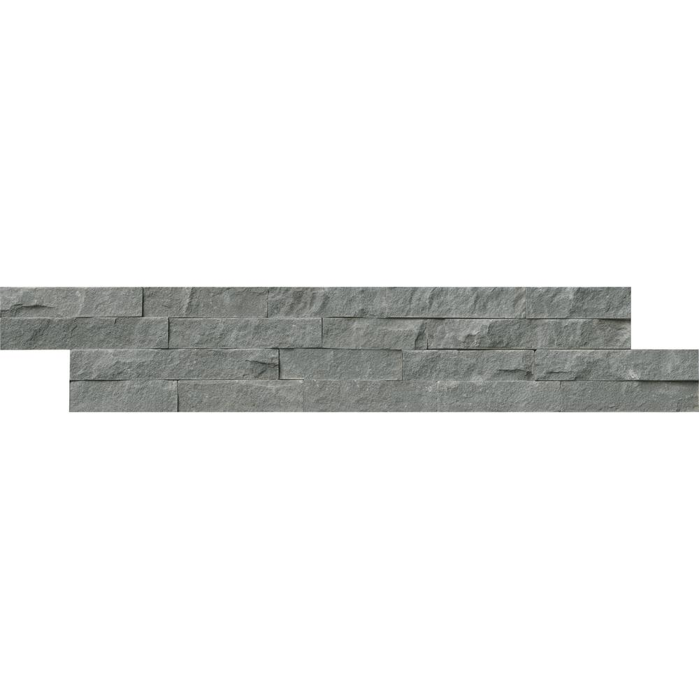 MSI Mountain Bluestone Ledger Panel 6 in. x 24 in. Natural Sandstone Wall Tile (10 cases / 60 sq. ft. / pallet)