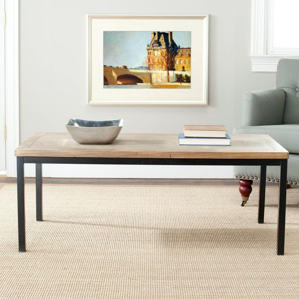 Safavieh dennis oak coffee table amh6588a the home depot safavieh dennis oak coffee table geotapseo Image collections