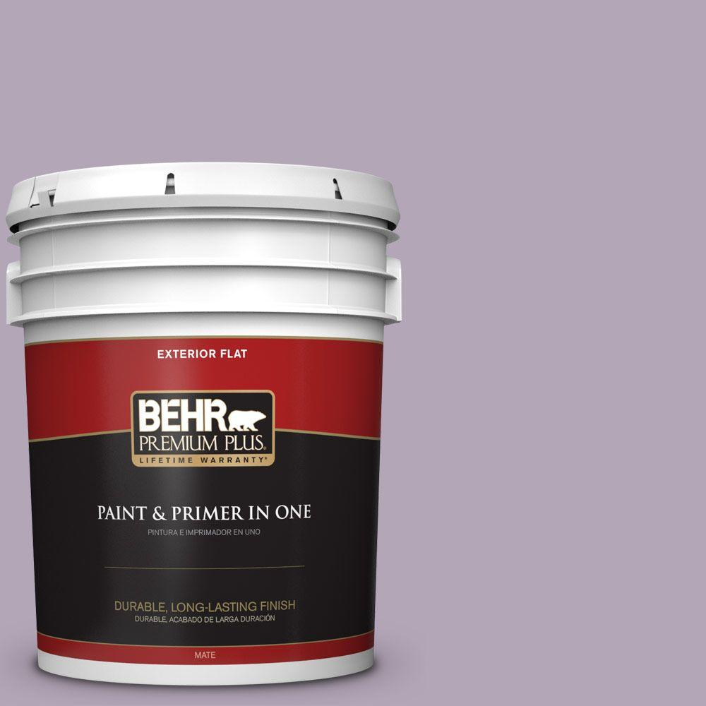 5-gal. #660F-4 Plum Frost Flat Exterior Paint
