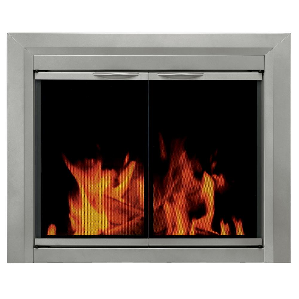 Pleasant Hearth: Pleasant Hearth Colby Medium Glass Fireplace Doors-CB-3301