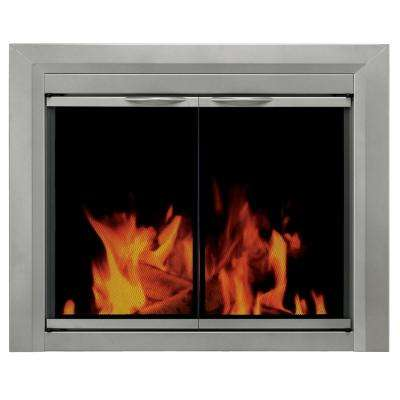 Colby Medium Glass Fireplace Doors
