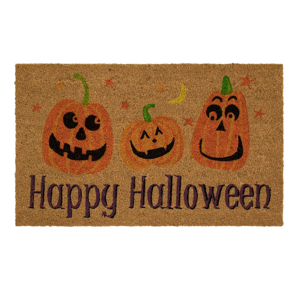 Autumn Words 18 in. x 30 in. Coir Door Mat