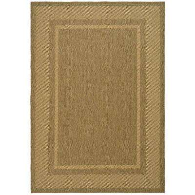 Color Frame Coffee/Sand 5 ft. x 8 ft. Area Rug