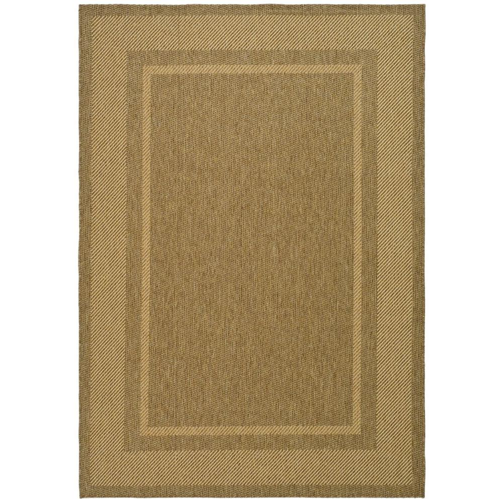 Martha Stewart Living Color Frame Coffee/Sand 6 ft. 7 in. x 9 ft. 6 in. Area Rug