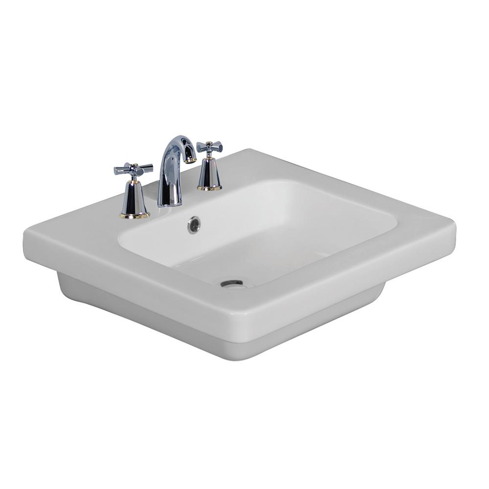 barclay products resort 500 19 3 4 in wall hung basin in white 4wall hung basin in white