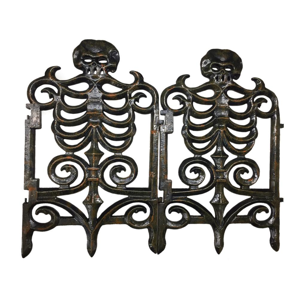 Home Accents Holiday 30 in. Victorian Skeleton Fence-Rust-5127226 - The  Home Depot