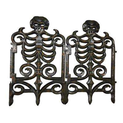 30 in. Victorian Skeleton Fence-Rust