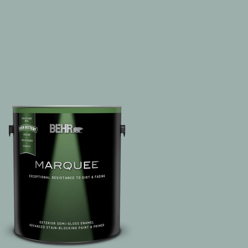 490f 4 Gray Morning Semi Gloss Enamel Exterior Paint And Primer In One