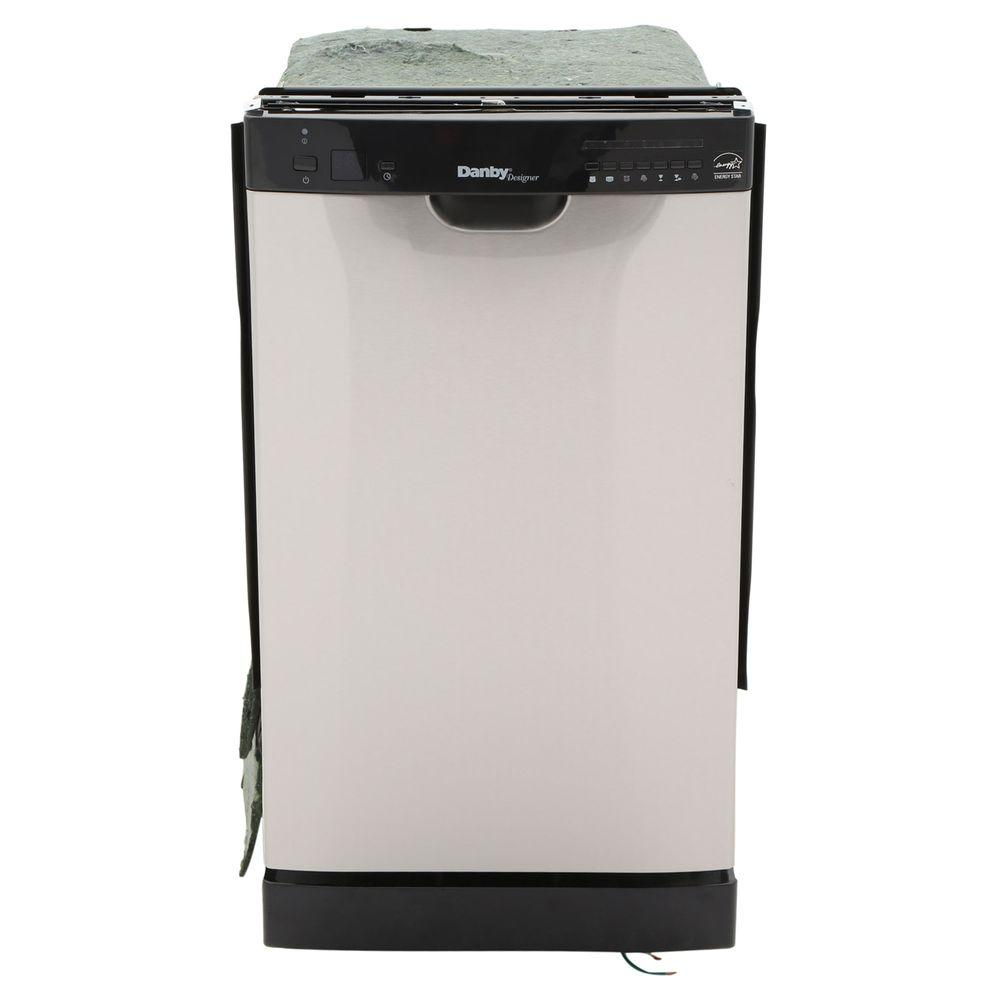Danby 18 in. Front Control Dishwasher in Stainless Steel with Stainless Steel Tub