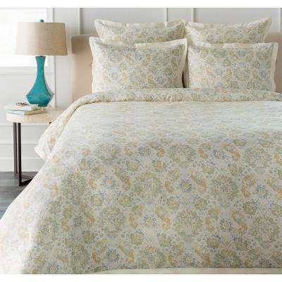Dalia Green Full/Queen Duvet Set