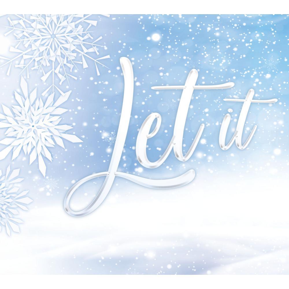 My Door Decor 7 Ft X 8 Ft Let It Snow Christmas Garage Door Decor Mural For Split Car Garage 285901xmas 027 The Home Depot