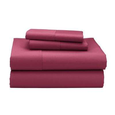 4-Piece 300 Thread Count Sateen Sheet Set
