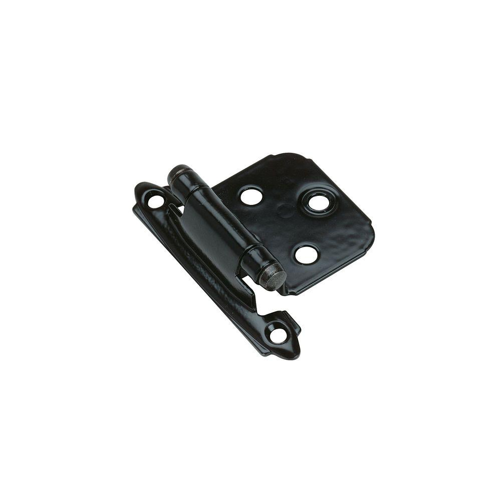 Black Self-Closing Face-Mount Variable Overlay Hinges