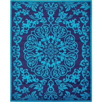 Metro Floral Turquoise 8' 0 x 10' 0 Area Rug