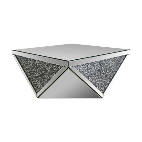 Noralie 38 in. Silver Medium Square Glass Coffee Table
