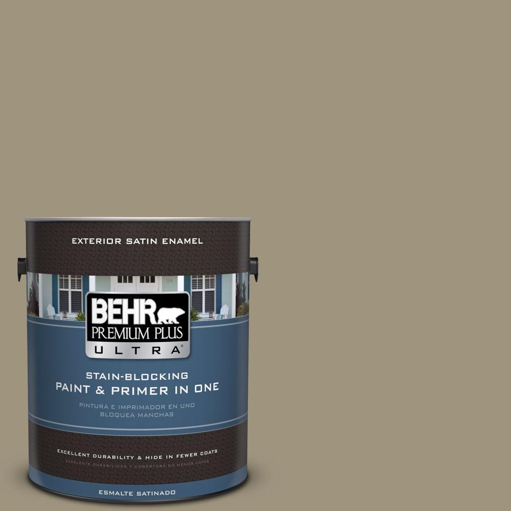 BEHR Premium Plus Ultra 1-gal. #760D-5 Shortgrass Prairie Satin Enamel Exterior Paint