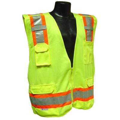 Cl 2 Two-tone Green 5x Breakaway Safety Vest