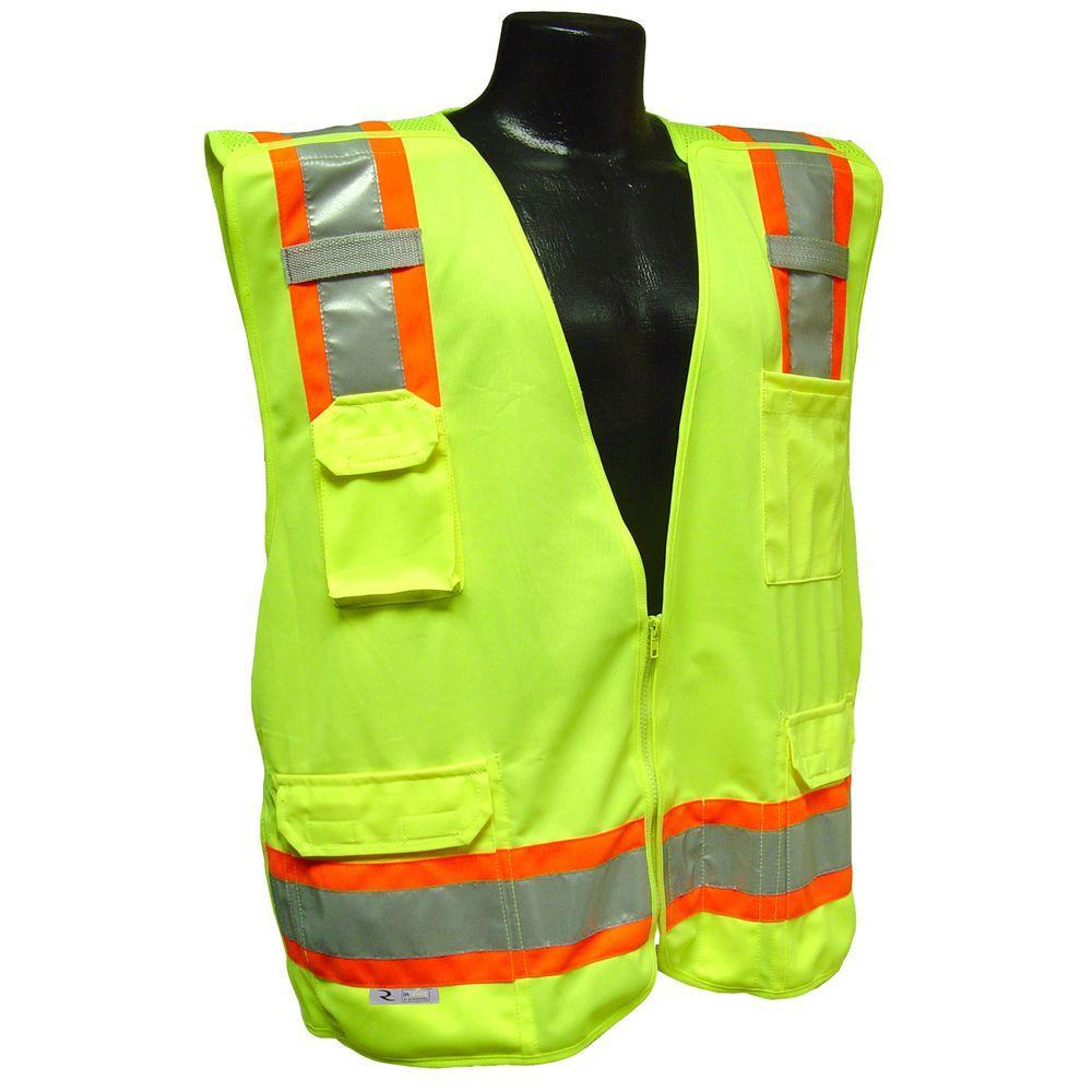 Cl 2 Two-tone Green Medium Breakaway Safety Vest