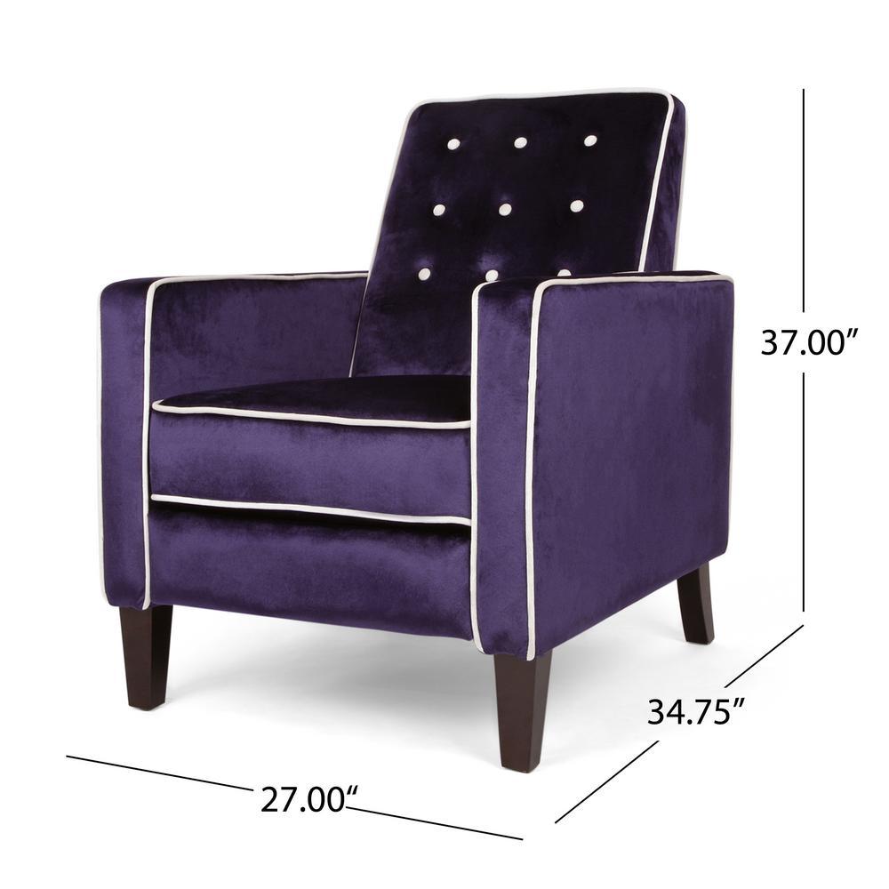 Swell Noble House La Verne Modern Glam Plum Velvet Push Back Ncnpc Chair Design For Home Ncnpcorg