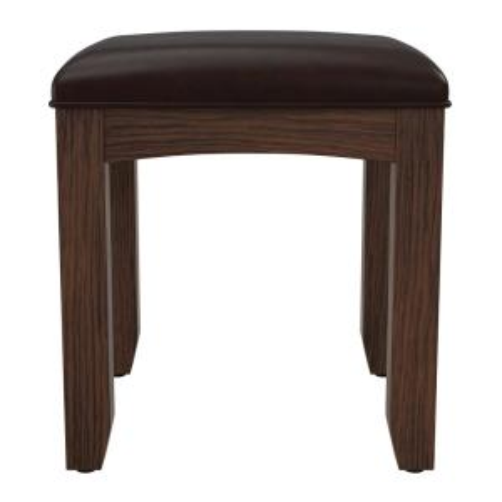 Modern Vintage Oak K/D Mission Bench for Vanity