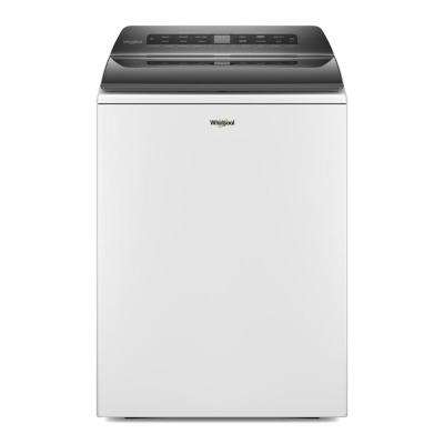 4.8 cu. ft. White Top Load Washing Machine with Impeller and Water Faucet