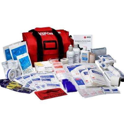 159-Piece Soft-Sided First Aid Kit Responder Bag