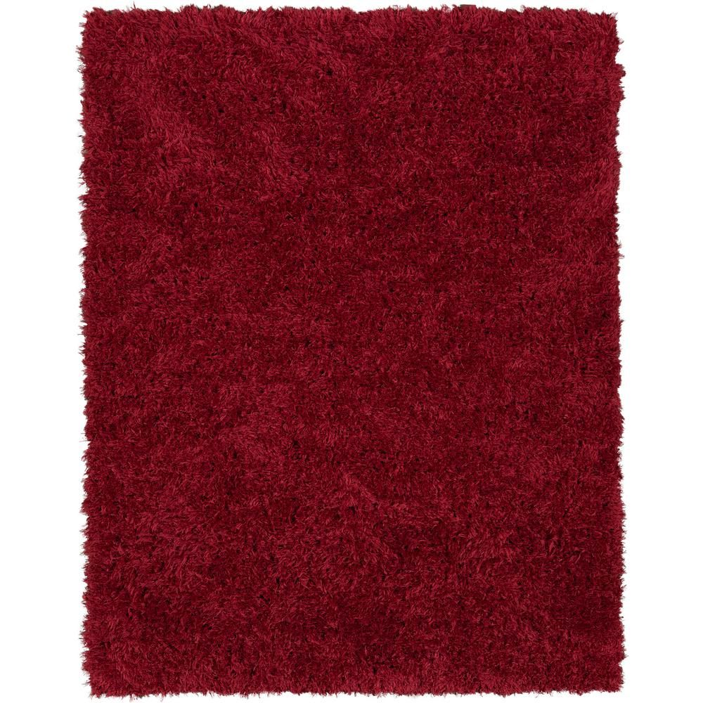 Ottomanson Pure Fuzzy Flokati Red 2 ft. 7 in. x 5 ft. Faux Sheepskin Indoor Kids Area Rug