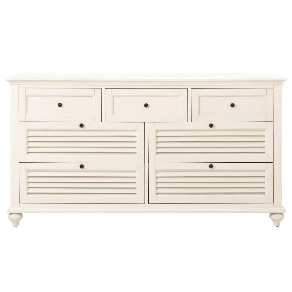 Hamilton 7-Drawer White Dresser