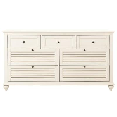 Hamilton 7-Drawer White Dresser