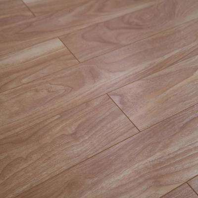 Natural Walnut 12 mm Thick x 4.96 in. Wide x 48 in. Length Click-Locking Laminate Flooring Planks (16.48 sq. ft. / case)
