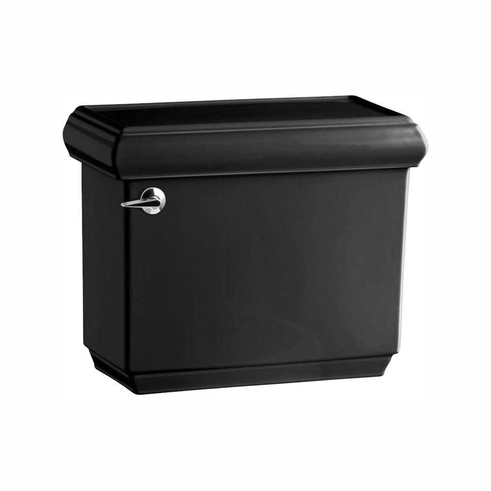 Memoirs 1.28 GPF Single Flush Toilet Tank Only with AquaPiston Flushing Technology in Black
