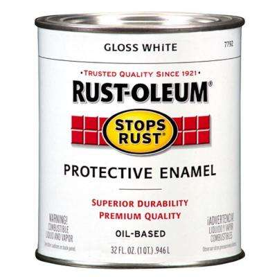 1 qt. White Gloss Protective Enamel Paint (Case of 2)