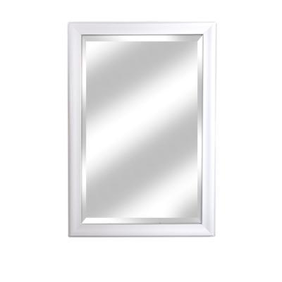 Large Rectangle White Beveled Glass Modern Mirror (40.25 in. H x 28.25 in. W)