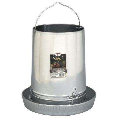 14 in., 30 lb. Galvanized Hanging Poultry Feeder Tubes