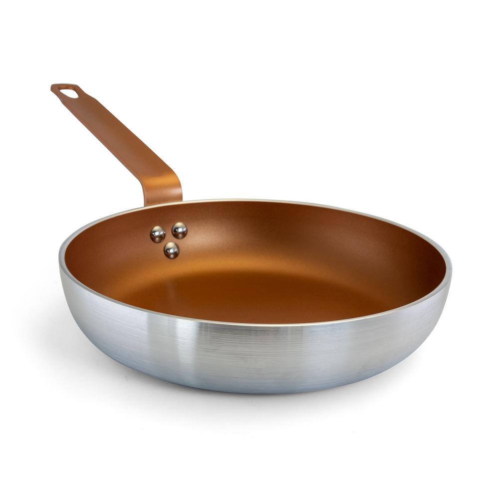 Slingblade 9.5 in. Aluminum Nonstick Frying Pan in Copper
