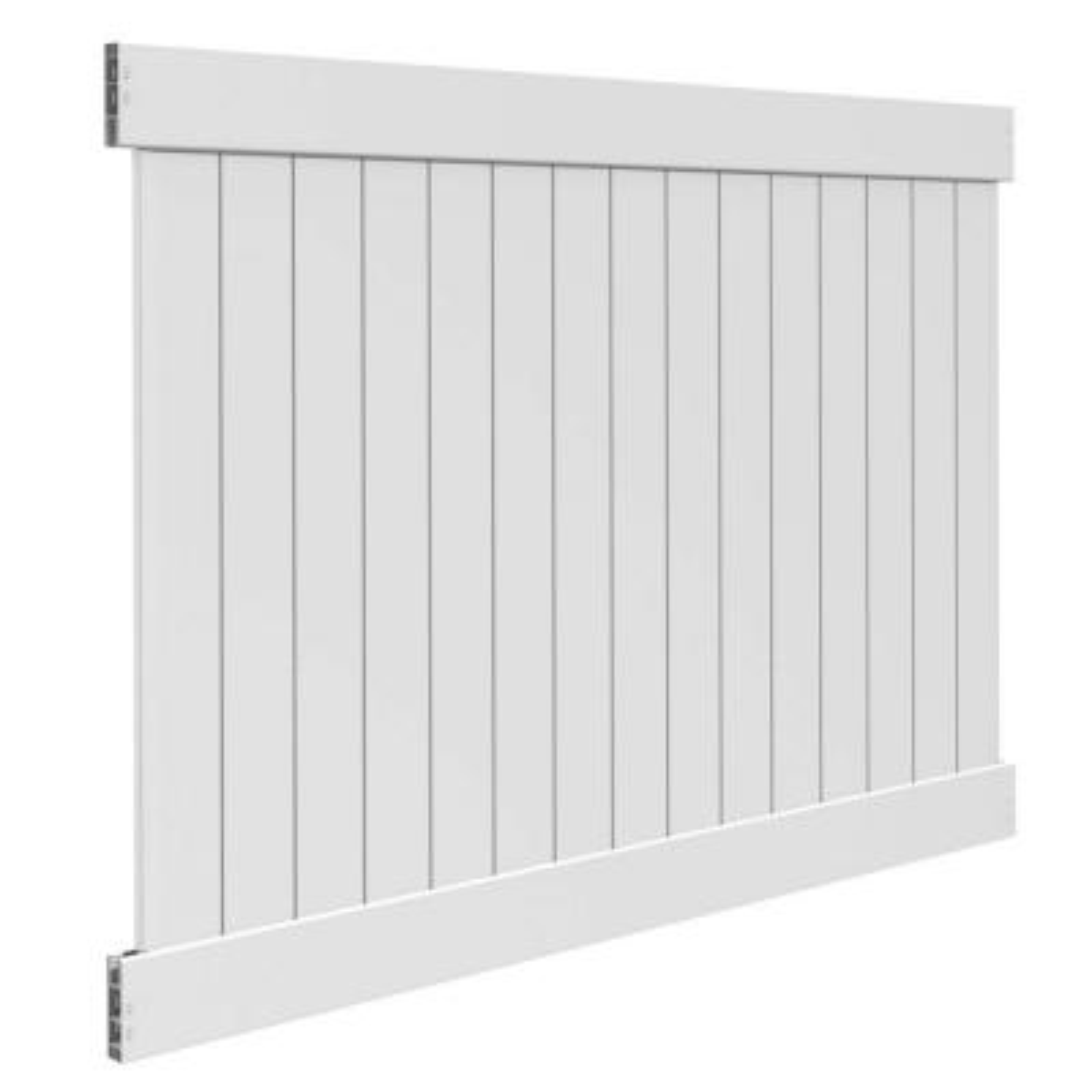 Linden 6 ft. H x 8 ft. W White Vinyl Pro Privacy Fence Panel Kit