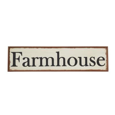 48 in. L Combo Board Wood Hand-Painted Farmhouse Wall Decor