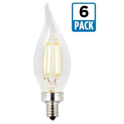 25W Equivalent Soft White CA11 Dimmable Filament LED Light Bulb (6-Pack)
