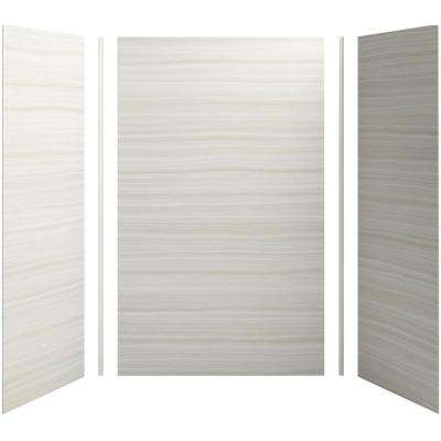 Choreograph 60in. X 36 in. x 96 in. 5-Piece Shower Wall Surround in VeinCut Dune for 96 in. Showers