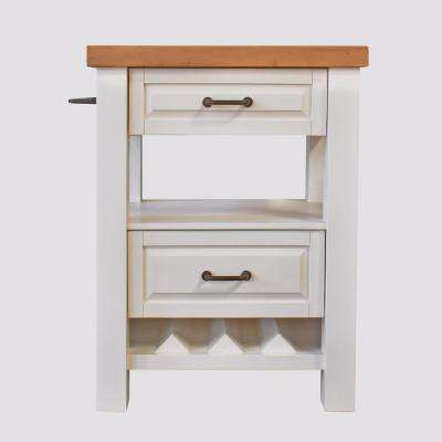 York White Kitchen Island