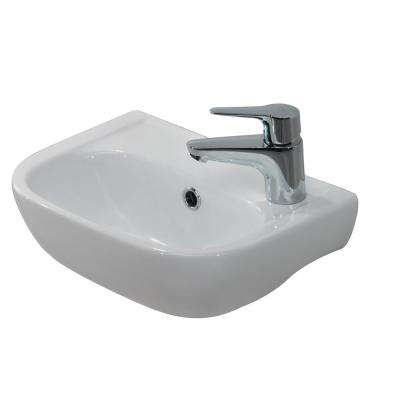 Caroline 380 15 in. Wall Hung Sink in White